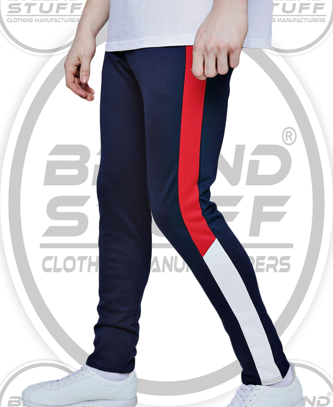 100% POLYESTER GYM TAPERED SLIM FIT PANELED TRACK PANT