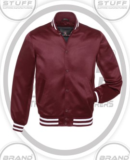 SATIN BASE BALL JACKET, CUSTOM SATIN VARSITY JACKET