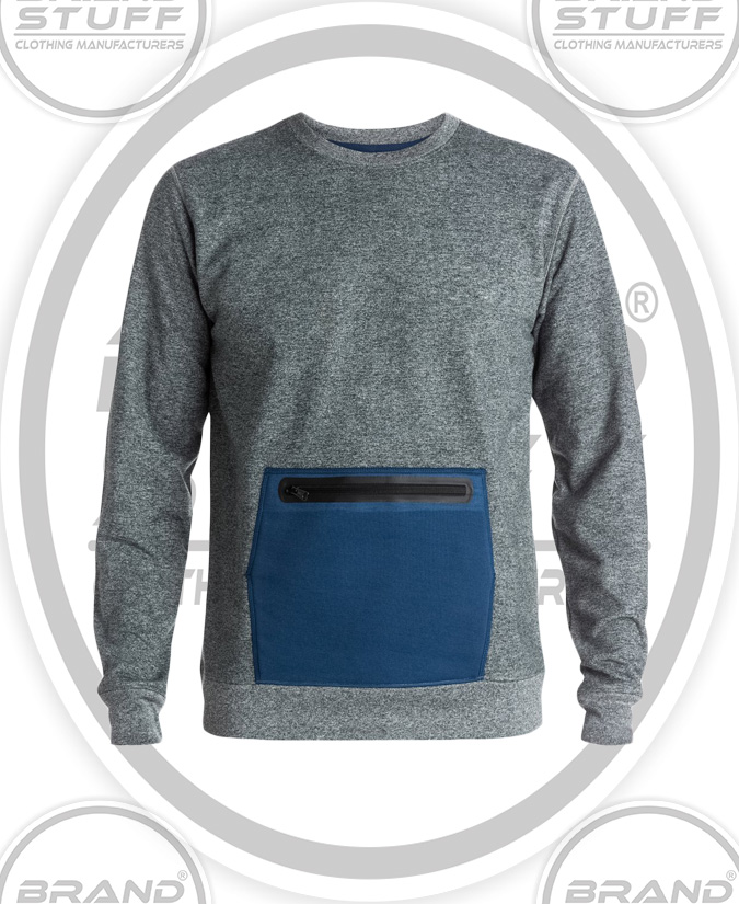 BRAND NEW BELLY CONTRAST PATCH POCKET SWEAT SHIRT