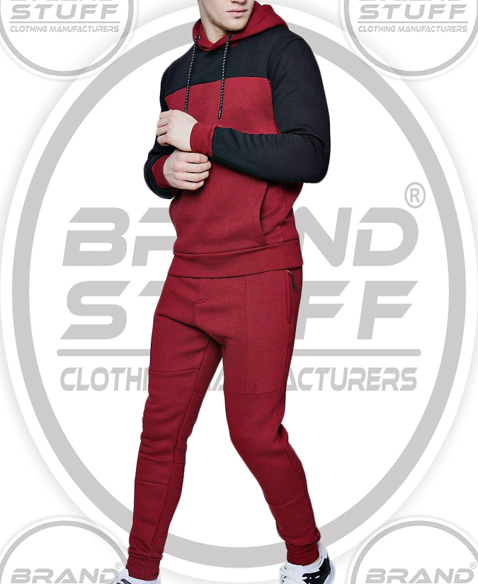 BRAND NEW MEN'S COLOR BLOCK HOODED TRACKSUIT