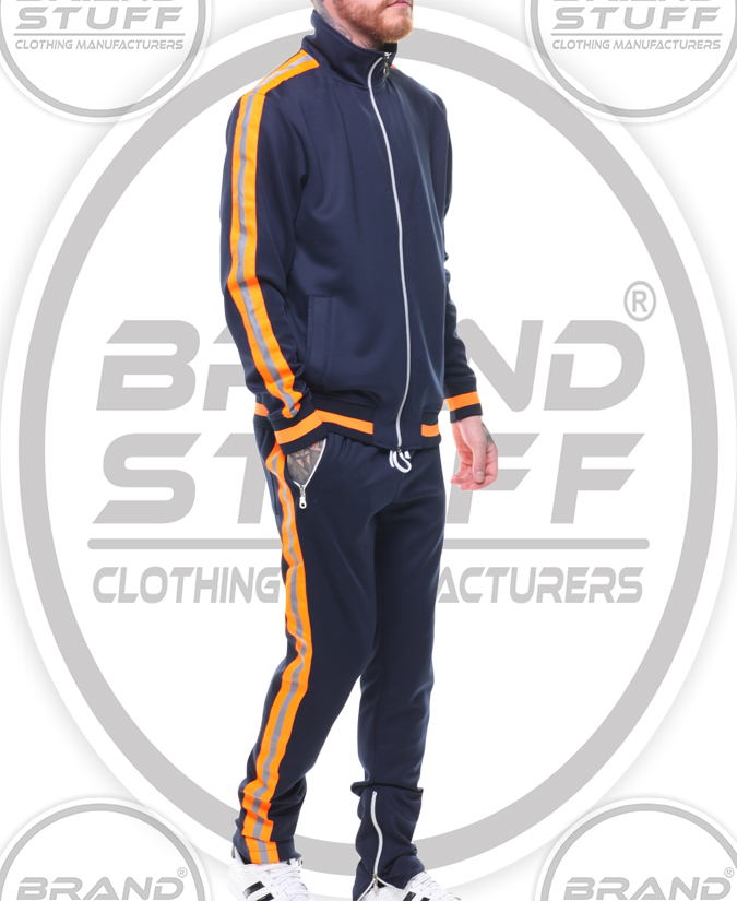 LATEST STYLE DUAL STRIPE POLYESTER TRACKSUIT