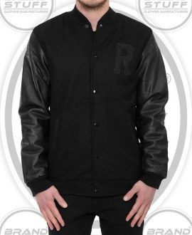SLIM FIT LETTERMAN VARSITY JACKET